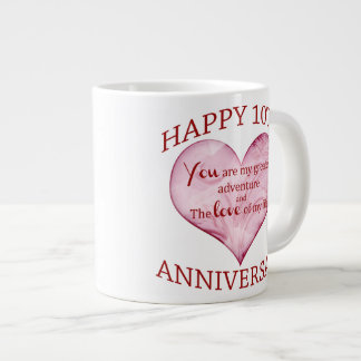 10th. Anniversary Giant Coffee Mug