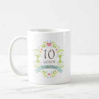 10th Anniversary Keepsake Beverage Coffee Mug