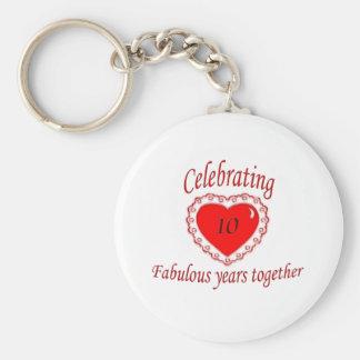 10th. Anniversary Keychain