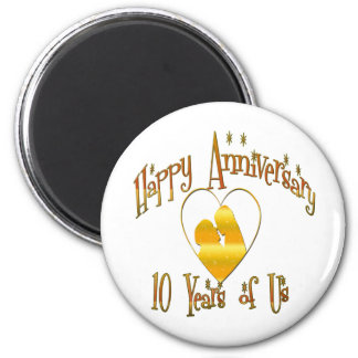 10th. Anniversary Magnets