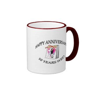 10th. ANNIVERSARY Ringer Mug
