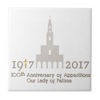 10th Anniversary of Apparitions - Fatima Portugal Ceramic Tile