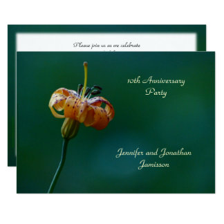 10th Anniversary Party Invitation Yellow Lily