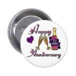10th. Anniversary Pinback Button