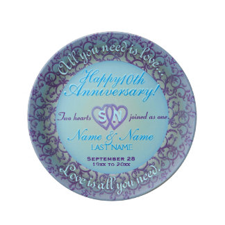 10th Anniversary Porcelain Plate