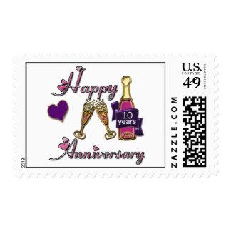 10th. Anniversary Postage Stamp