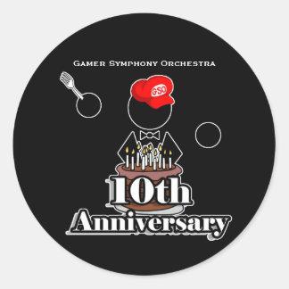 10th Anniversary Stickers