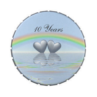 10th Anniversary Tin Hearts Jelly Belly Candy Tins