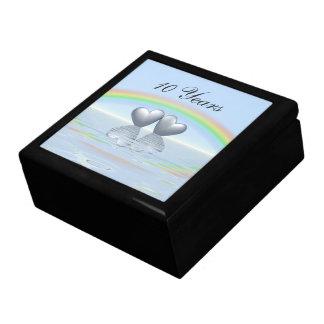 10th Anniversary Tin Hearts Keepsake Box