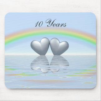10th Anniversary Tin Hearts Mouse Pad