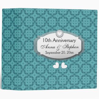 10th Anniversary Wedding Anniversary Z09 Binder