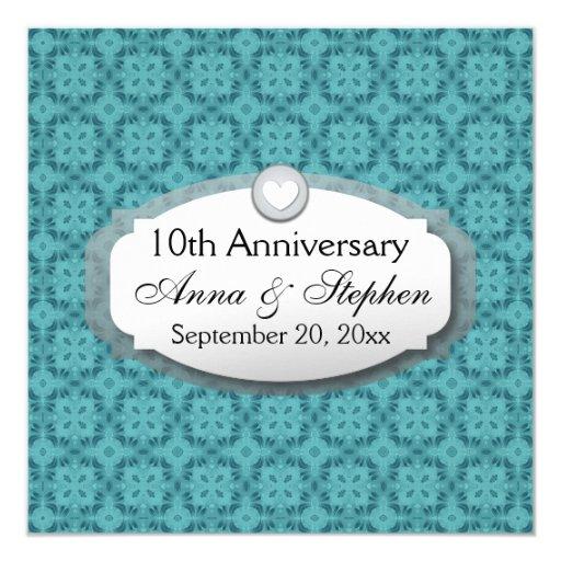 Alternative 10th Wedding Anniversary Gifts : 10th Anniversary Wedding Anniversary Z09 5.25x5.25 Square Paper ...