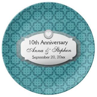 10th Anniversary Wedding Anniversary Z09 Porcelain Plate
