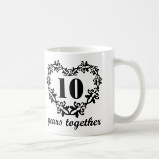 10th Anniversary Years Together Heart Gift Mug