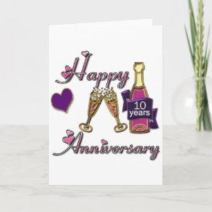 10th anniversary cards zazzle 10th anniversary card m4hsunfo