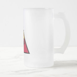 10th Armored Division Frosted Glass Beer Mug