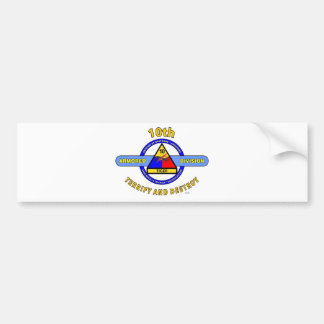 "10TH ARMORED DIVISION""TERRIFY & DESTROY""BLUE BUMPER STICKER"