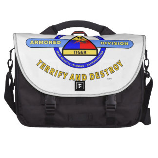 10TH ARMORED DIVISION TERRIFY DESTROY BLUE LAPTOP BAGS