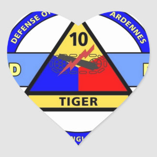 """10TH ARMORED DIVISION""""TERRIFY & DESTROY""""BLUE STICKERS"""