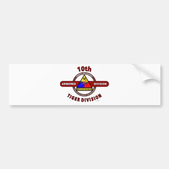 "10TH ARMORED DIVISION ""TIGER DIVISION"" BUMPER STICKER"