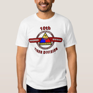 """10TH ARMORED DIVISION """"TIGER DIVISION"""" T-Shirt"""