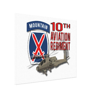 10th Aviation Regiment - Apache Canvas Print