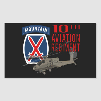 10th Aviation Regiment - Apache Rectangular Sticker