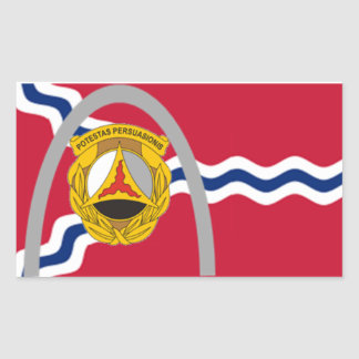 10th Batallion St. Lous Flag Rectangular Sticker