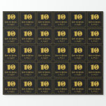 """[ Thumbnail: 10th Birthday – Art Deco Inspired Look """"10"""" & Name Wrapping Paper ]"""