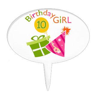 10th Birthday - Birthday Girl Cake Pick
