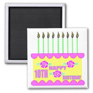 10th Birthday Cake Gifts Refrigerator Magnets