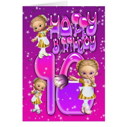 10th Birthday Card cute little glitter maids