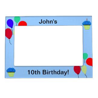 10th Birthday Cupcakes & Balloons Frame