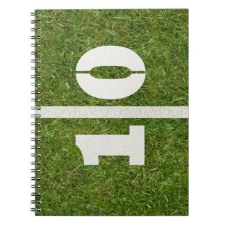 10th Birthday Football Field Notebook