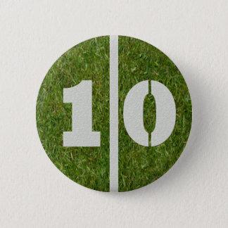 10th Birthday Football Yard Button