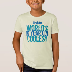 10th Birthday Gift World S Coolest 10 Year Old Boy T Shirt