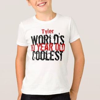 10th Birthday Gift World's Coolest 10 Year Old Boy T-Shirt