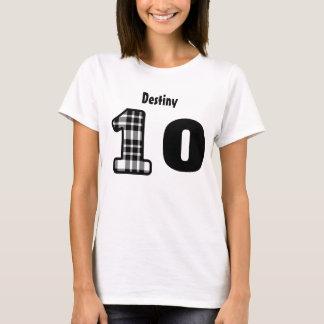 10th Birthday Girl Plaid or 10 thru 19 YEARS V08 T-Shirt