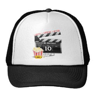 10th Birthday Hollywood Movie Party Trucker Hats