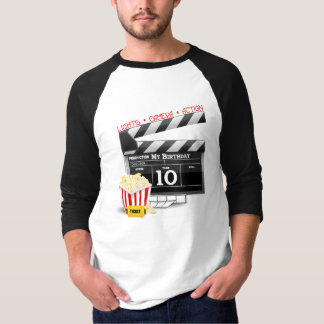 10th Birthday Hollywood Movie Party Shirt