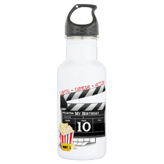 10th Birthday Hollywood Movie Party Stainless Steel Water Bottle