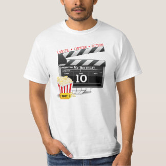 10th Birthday Hollywood Movie Party T-Shirt