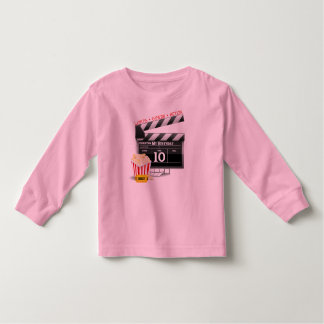 10th Birthday Hollywood Movie Party Tee Shirt