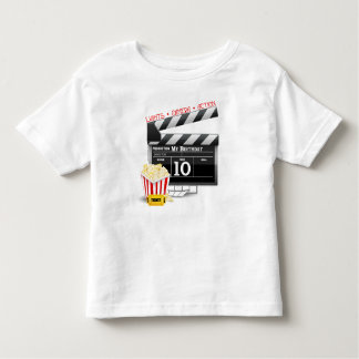 10th Birthday Hollywood Movie Party Toddler T-shirt