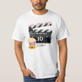 10th Birthday Hollywood Movie Party Tshirts