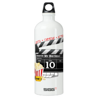 10th Birthday Hollywood Movie Party Water Bottle