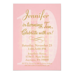 10 Years Old Invitations Announcements Zazzle