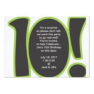 10th birthday invitations announcements zazzle 10th birthday invite stopboris Image collections