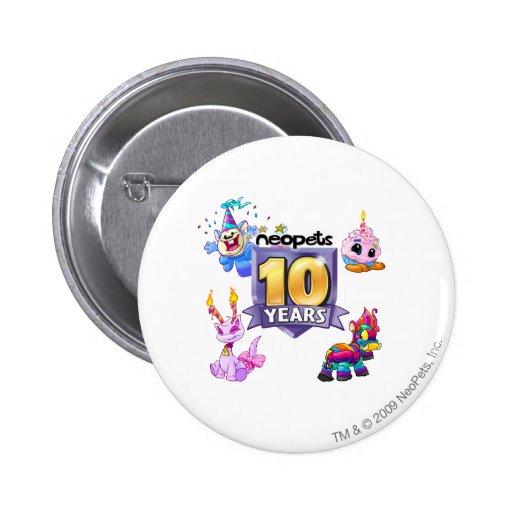 10th Birthday Logo 2 Inch Round Button