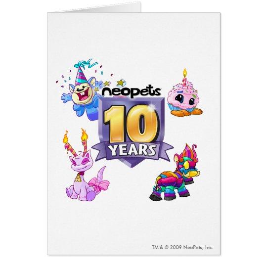 10th Birthday Logo Card